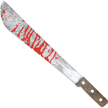 Slasher Machete - Halloween Weapon Prop - 51cm front