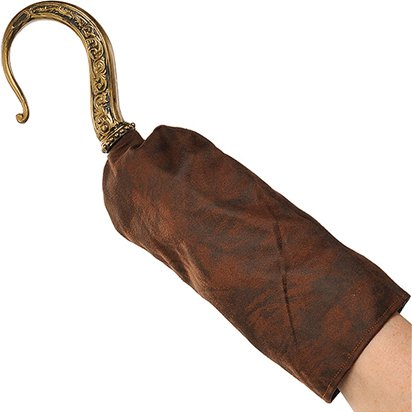 Pirate Hook with Sleeve  - Pirate Fancy Dress Costume Accessories front