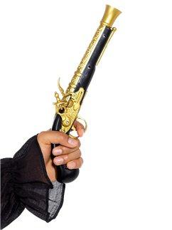 Black & Gold Pirate Blunderbuss Pistol