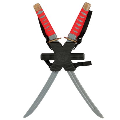 Double Red Ninja Sword - Ninja Fake Weapons & Accessories front