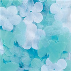 Robins Egg Blue Fabric Confetti