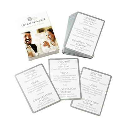 Wedding Trivia Table Fun Cards