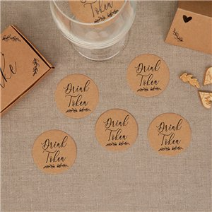 Hearts & Krafts Wedding Drinks Tokens
