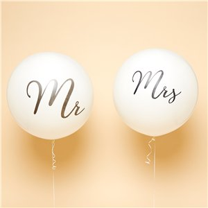 Mr & Mrs Black Giant Balloons - 36