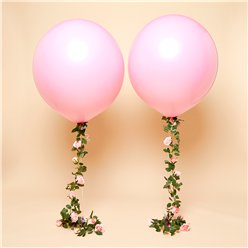 "Pink Rose Tail Giant Balloon Kit - 36"" Latex"