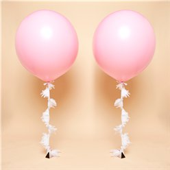 Pink Feather Tail Giant Wedding Balloon Kit