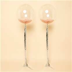 Rose Gold Feathers Clearz Wedding Balloon Kit