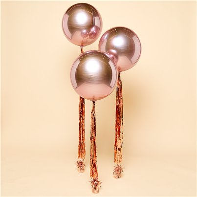 Rose Gold Orbz Wedding Balloon Kit