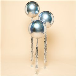 Silver Orbz Wedding Balloon Kit