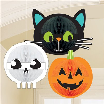 Hallo-ween Friends Honeycomb Decorations