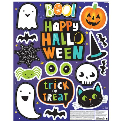 Hallo-ween Friends Window Stickers