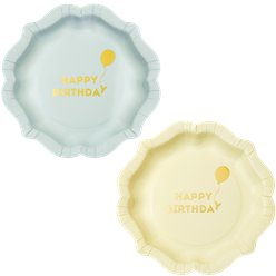 We Heart Birthdays Pastel Birthday Paper Plates - 23cm