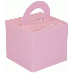 Pink Cube Balloon Weight/Favour Boxes - 6.5cm