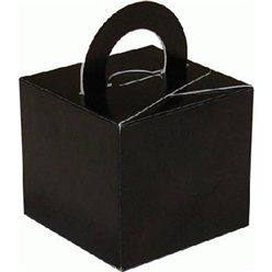Black Cube Balloon Weight/Favour Boxes - 6.5cm