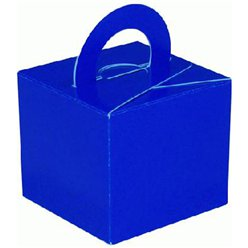 Blue Cube Balloon Weight/Favour Boxes - 6.5cm