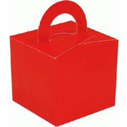 Red Cube Balloon Weight/Favour Boxes - 6.5cm