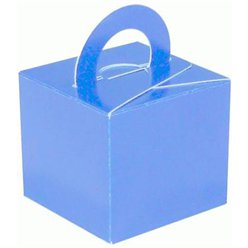 Light Blue Cube Balloon Weight/Favour Boxes - 6.5cm