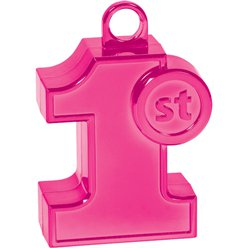 1st Birthday Pink Balloon Weight - 170g