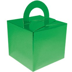Metallic Green Cube Balloon Weight/Favour Boxes - 6.5cm