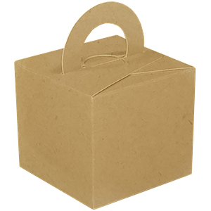 Craft Natural Cube Balloon Weight/Favour Boxes - 6.5cm