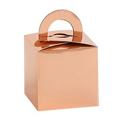 Rose Gold Cube Balloon Weight / Favour Boxes