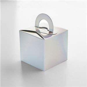 Iridescent Cube Balloon Weight / Favour Boxes