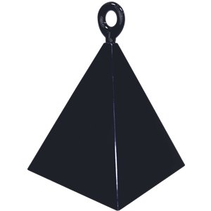 Black Pyramid Balloon Weight - 110g