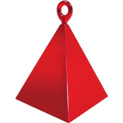 Red Pyramid Balloon Weight - 110g