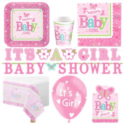 Welcome Baby Girl Deluxe Party Pack