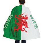 St. David's Day Welsh Flag Body Cape