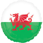 "St David's Welsh Flag Balloon - 18"" Foil"