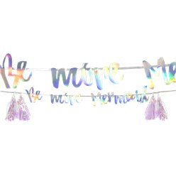 We Heart Mermaid Tassel Garland - 3m