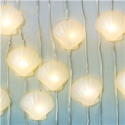 We Heart Mermaid Shell Lights - 3m String