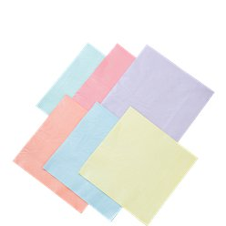 Pearlised Pastel Napkins in Assorted Colours - 33cm Paper Napkins