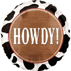 "Western Party Howdy Balloon - 18"" Foil Balloon"