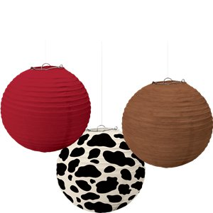 Western Party Paper Lanterns - 24cm