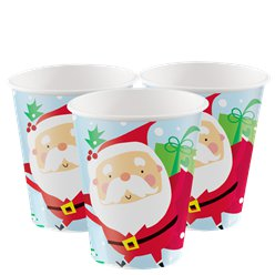 Oh What Fun Paper Party Cups - 266ml