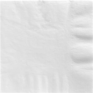 White Dinner Napkins - 40cm Square 2ply Paper