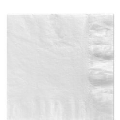 White Luncheon Napkins - 33cm Square 2ply Paper
