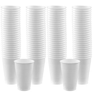 White Cups - 355ml Plastic Party Cups