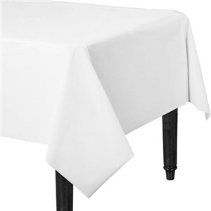 White Plastic Tablecover - 1.4m x 2.8m