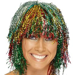 Multi Tinsel Wig