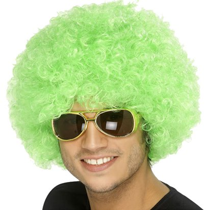 Afro Wig - St Patrick's Day Accessories - Adult One Size front