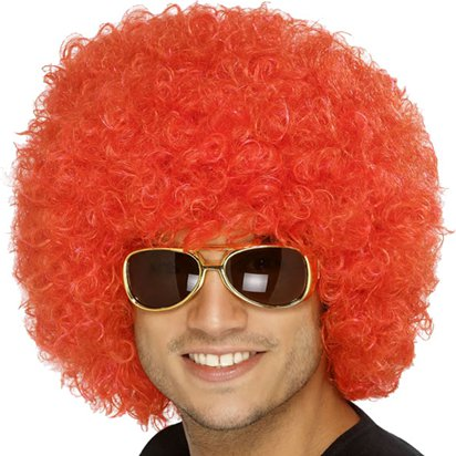 Curly Afro - Red Wig front