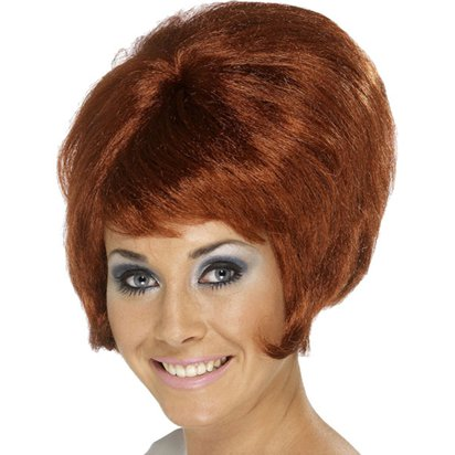 60's Beehive Wig - Auburn Ginger Wig front
