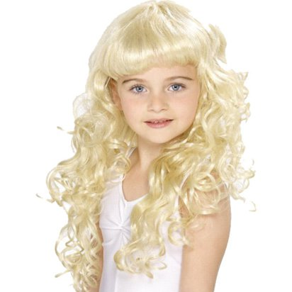 Child's Princess - Blonde Wig front