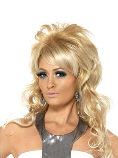 60s Blonde Beauty Queen Wig