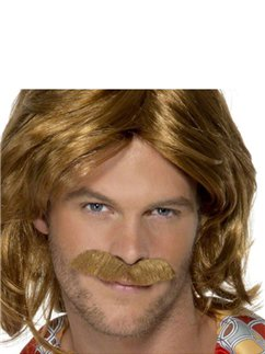 70's Super Trouper Wig & Moustache Set - Auburn