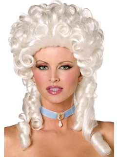 White Lady Baroque Wig