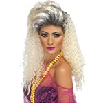 80s Blonde Crimp Wig
